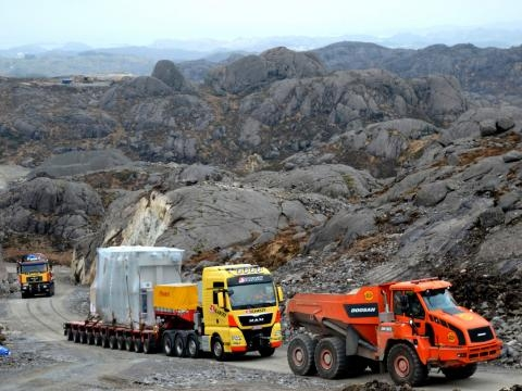 110 tn transformer delivered to extremely challenging destination in Norway